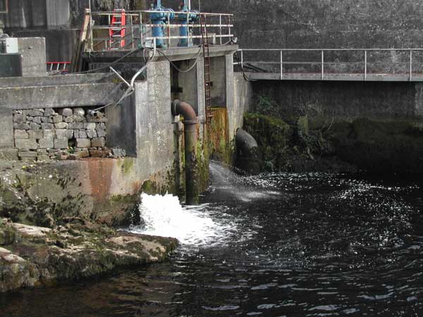 Entrance to fish lock at Ardnacrusha