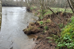 12 of 30: Bank slippage upstream of Ballyclough weir