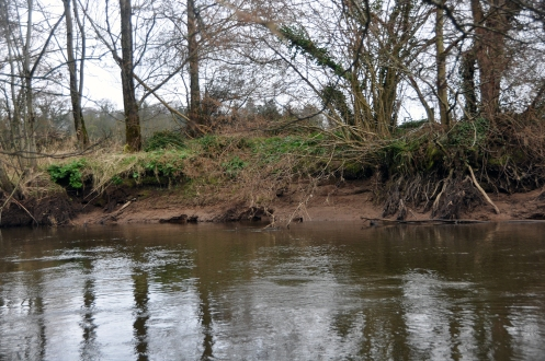 1 of 30: Destabalised banks upstream of Ballyclough weir