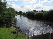 Looking downstream on the River Shannon from Ballintra gates