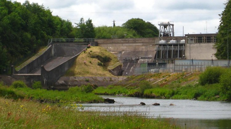 ESB's Carrigadrohid dam is the upper dam on the River Lee. Iniscarra dam is located downstream from here and both dams flooded the Lee Valley in the 1950s.